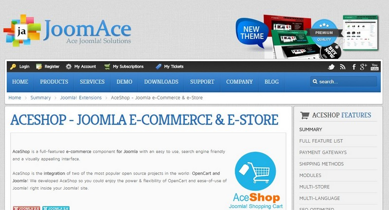 AceShop The ultimate Joomla Shopping Cart JoomAceLLC